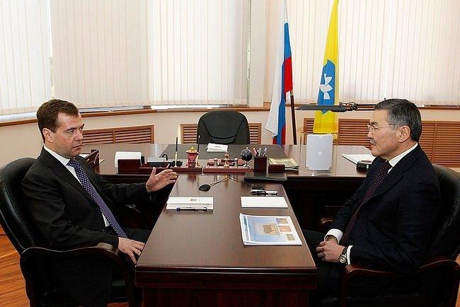 С Главой Республики Калмыкия Алексеем Орловым