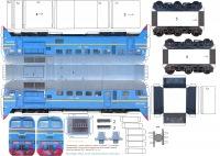 Схема бумажного поезда
