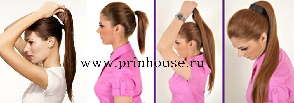 инструкция как крепить шиньон накладной хвост