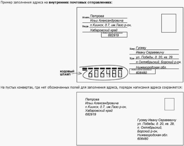 Как клеить марки на открытку по россии