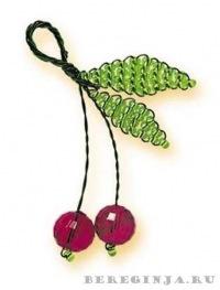 9 июл 2008 Шарики фуреллены брелок из бисера схема скачать плетения как как веточки яблочка, нанизав на неё бисер и...