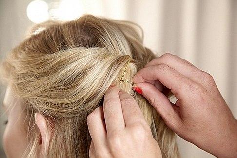 Заколоть волосы в домашних условиях