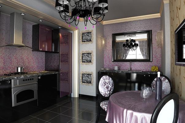 кухня для квартиры в стиле арт деко.