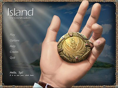 Island. The lost medallion.