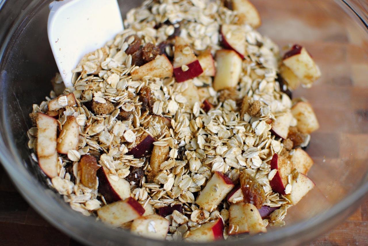 Овсянка с яблоками рецепт пошагово