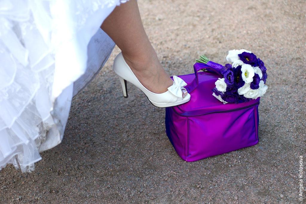 Фотосъемка свадьбы в парке Петергофа.
