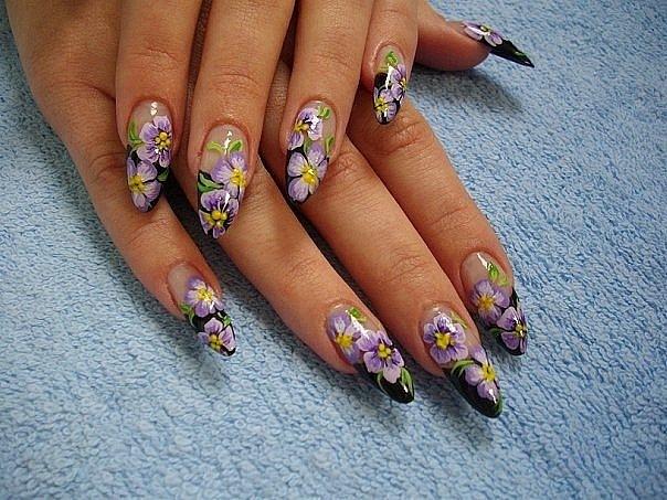 Дизайн молнии на ногтях
