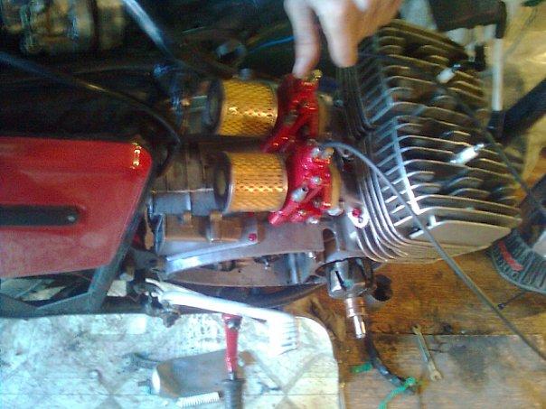 Как сделать воздушный фильтр для мотоцикла 587