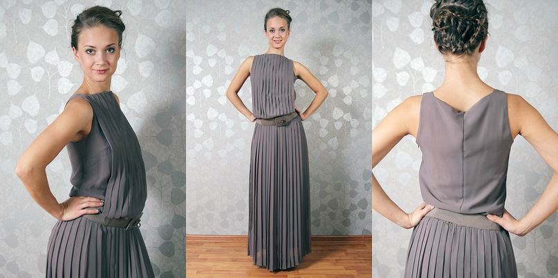 Платье из ткани плиссе сшить 54