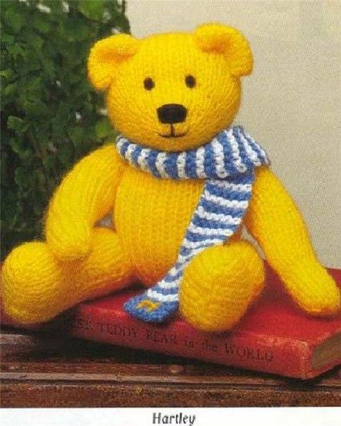 Медведь, связанный спицами.  Из книги Jean Greenhowes.