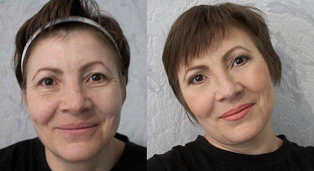 Дневной макияж для глаз женщина 40 лет