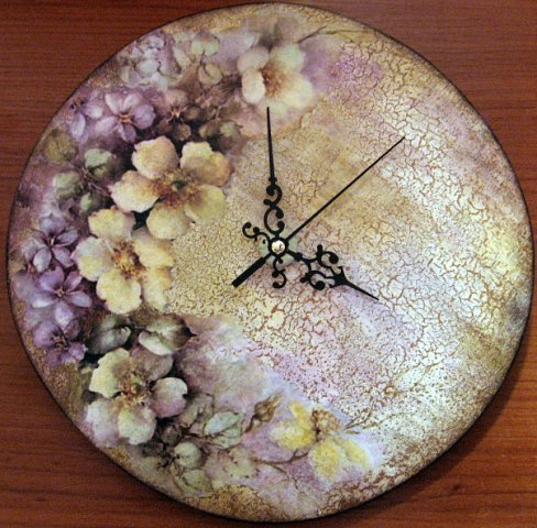 Часы из тарелки своими руками