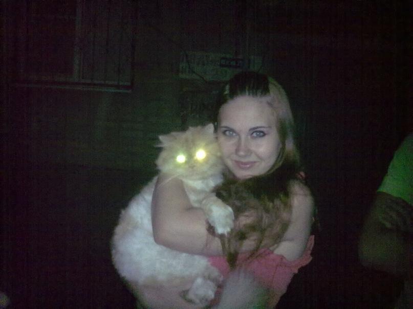 Поймала летом кота на улице))))