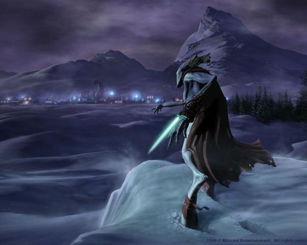 Dark Templar смотрит на терранскую базу (что он задумал?