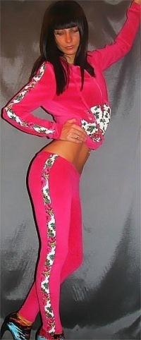 Велюровый костюм ysl ярко розовый