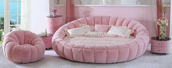 круглые кровати, барнаул и современные спальни.