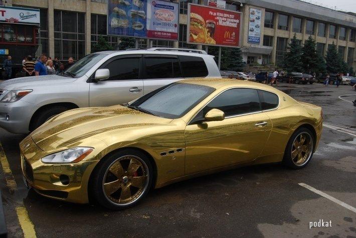 золотая машина фото | Фото | Автомобили: http://avto.bigbo.ru/?p=6073