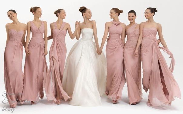 Вечерние платья розового цвета.
