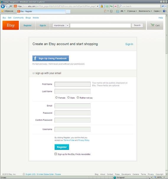 Как открыть свой магазин на Etsy.com