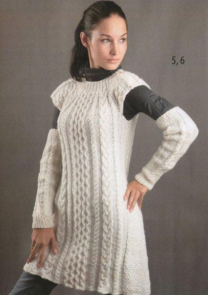 Сереневое платье вязаное на спицах Размер немецкий: 34/36 (38/40)