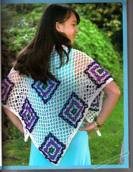 Техника вязания шалей