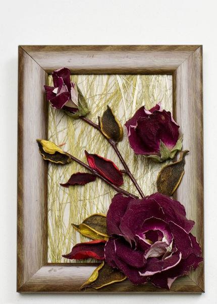 Сделать своими руками картину из сухих цветов