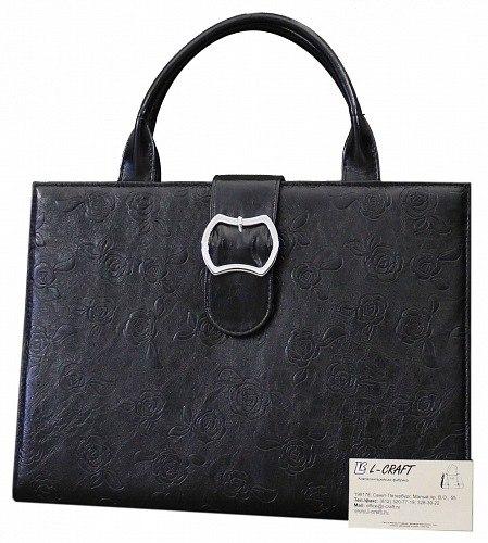 Сумка женская L-Craft, деловая.  Задняя стенка: карман на молнии.