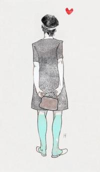 рисунок, иллюстрация, спина, мода, девушка, сумка - картинка 3785 на...