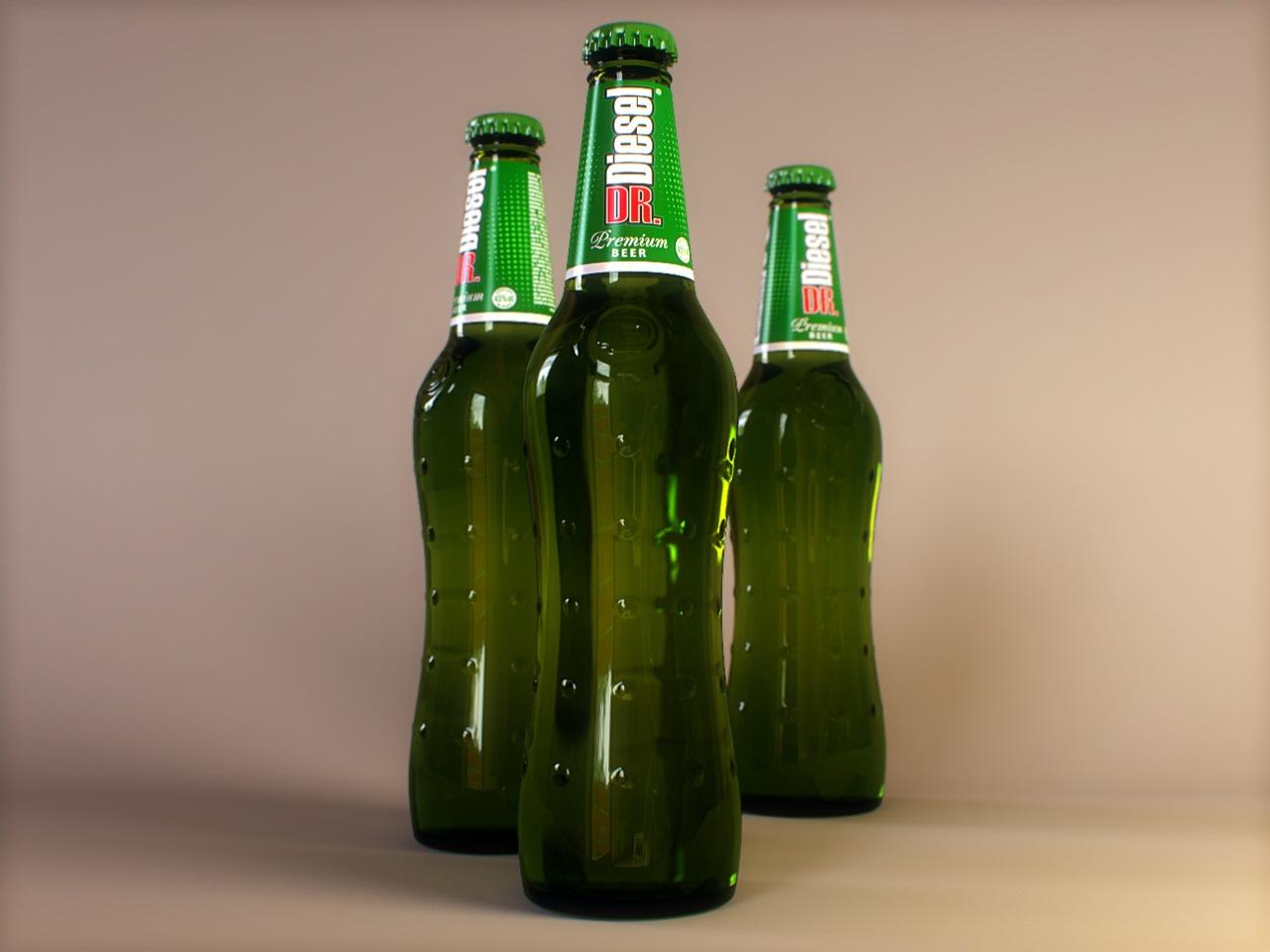 Рендер бутылки Vray