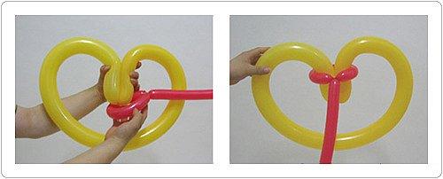 Используем концы шариков как веревку