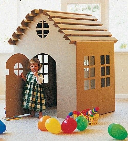 Большой домик для ребенка из картона своими руками