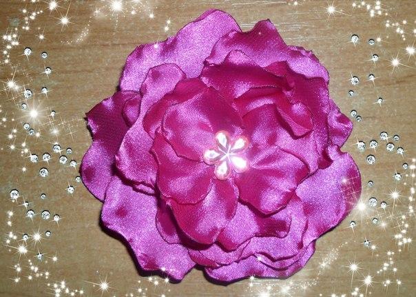 Розы из атласных лент своими руками инструкция