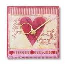 Продается.  Часы-открытка ручной работы.  Розовый цвет, фигурно...