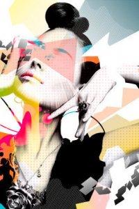 Картинка Abstract Lady на iPhone и iPod бесплатно.