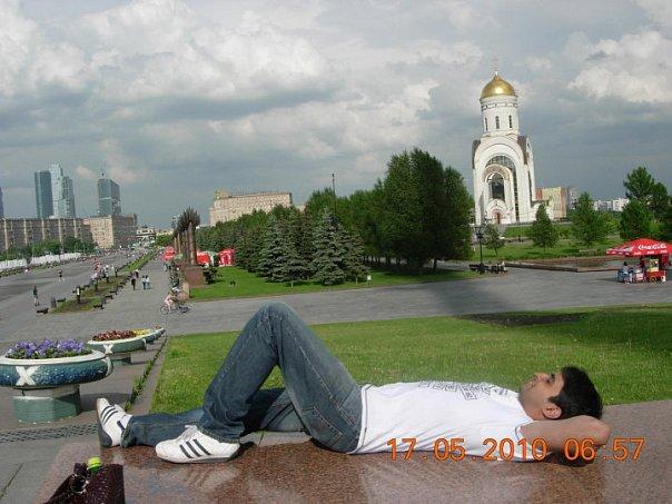 Varun Patel: Me in Park Pobedy (moscow)