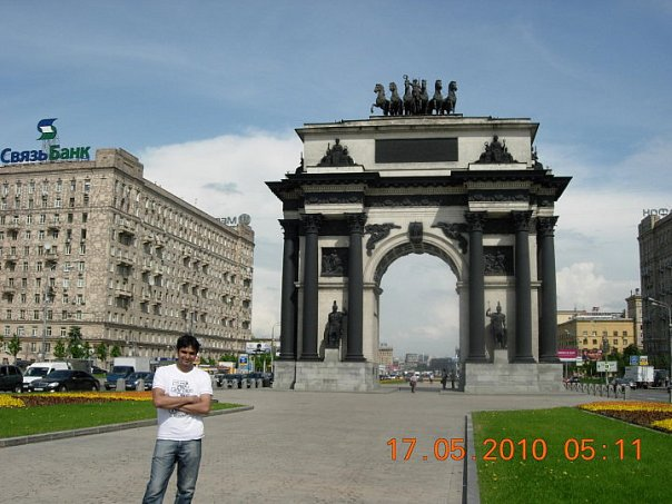 Varun Patel: Near Triumphal Arch in Moscow