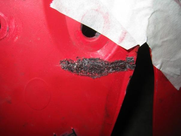 ремонт пластика на скутере