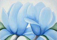 """Схема вышивки  """"Голубые цветы """" ."""