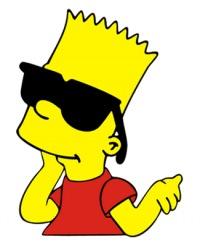 Футболка с длинным рукавом Барт Симпсон в очках.
