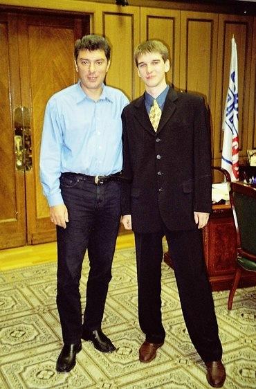 Борис Немцов и Евгений Михеев 2003 г