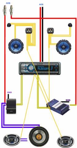 такая вот схема акустики в