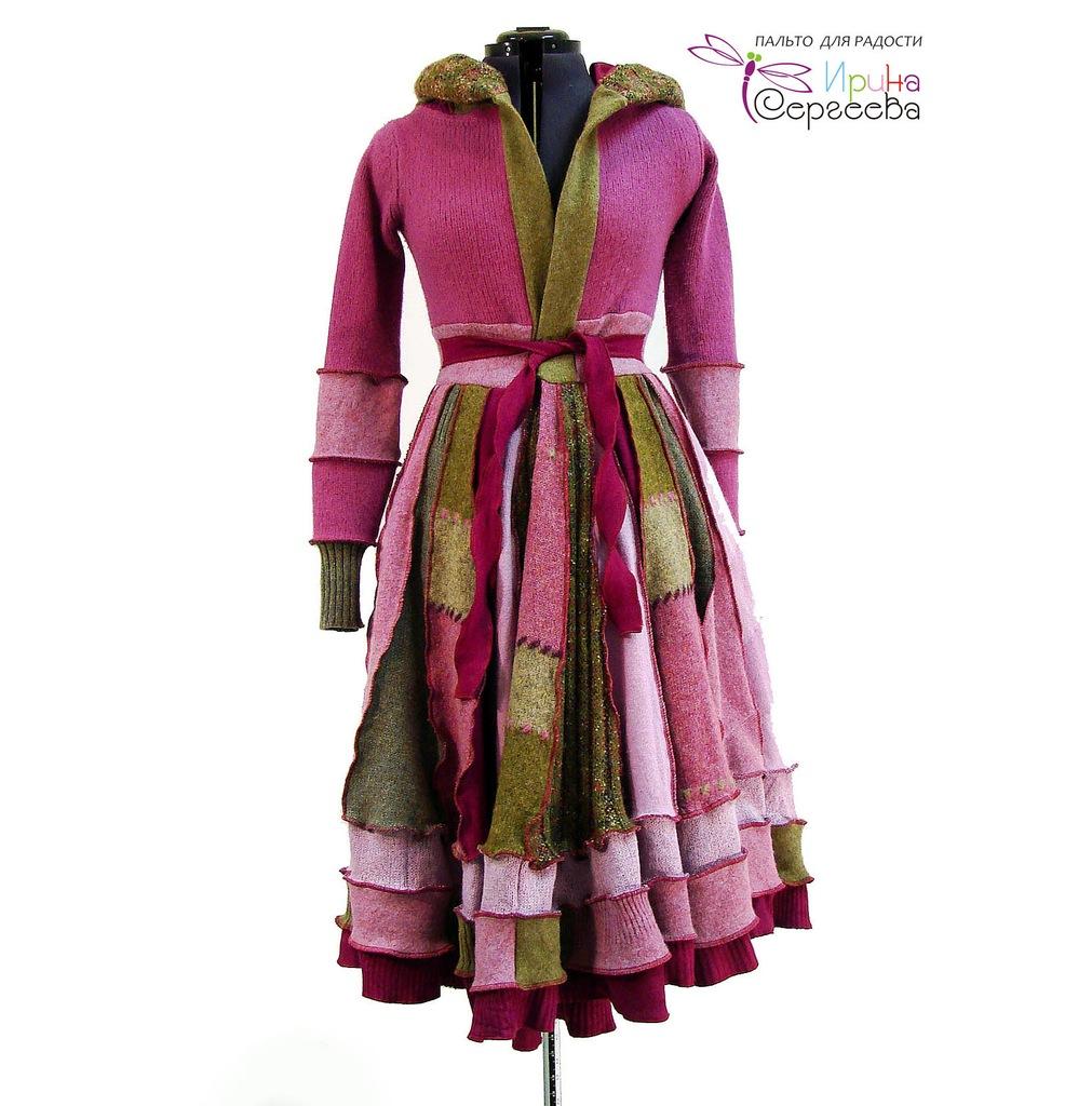 """Лоскутное пальто """"Весна"""". Дизайнер Ирина Сергеева."""