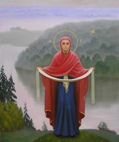 С ПРАЗДНИКОМ Покрова Пресвятой Богородицы всех.  Владычица наша, покрой нас Твоей милостью и на Страшном суде...