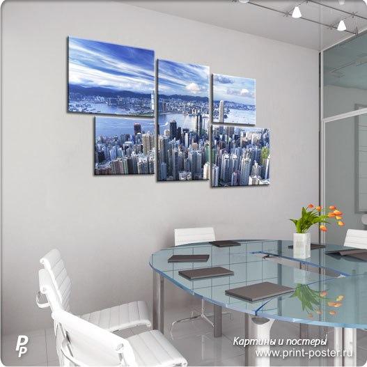 Картина в интерьере офиса