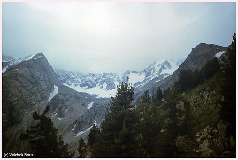 Вид с подъема на перевал Нарильчан