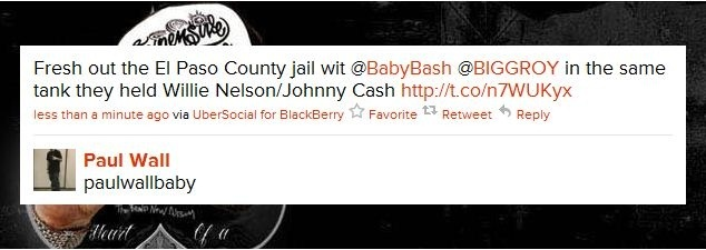 Paul Wall и Baby Bash арестованы за хранение марихуаны