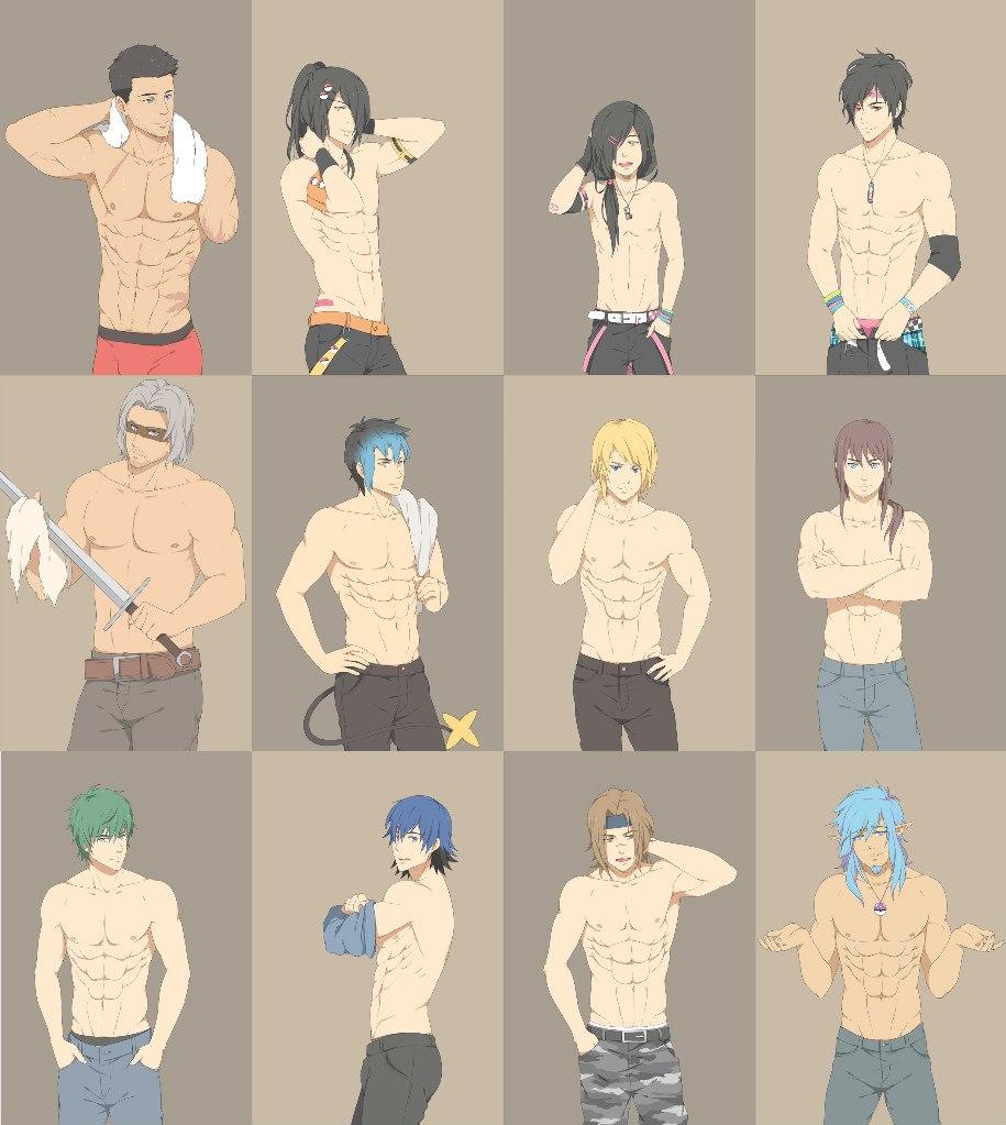 Картинки аниме парней много 2 фотография