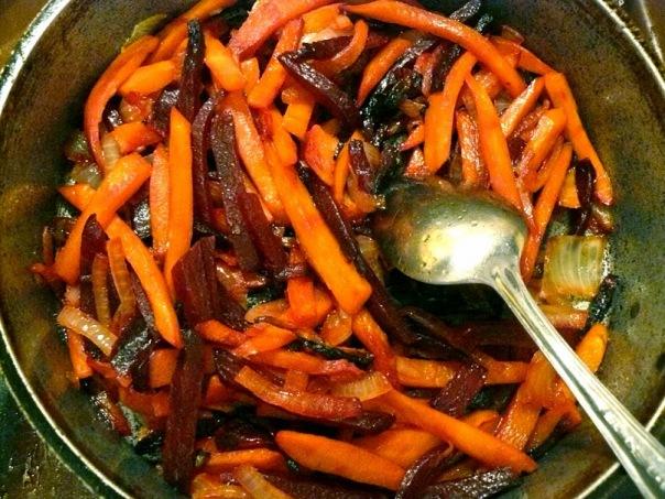 бурак, морковь, лук