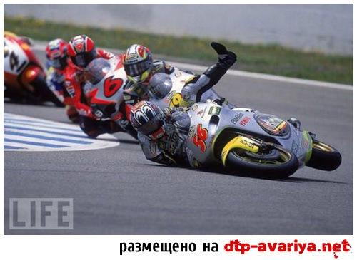 фото аварий на мото гонках