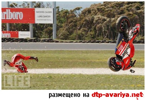 фото аварий мотоциклов на гонках